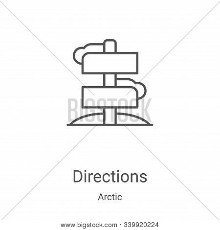 directions icon isolated on white background from arctic collection. directions icon trendy and mode