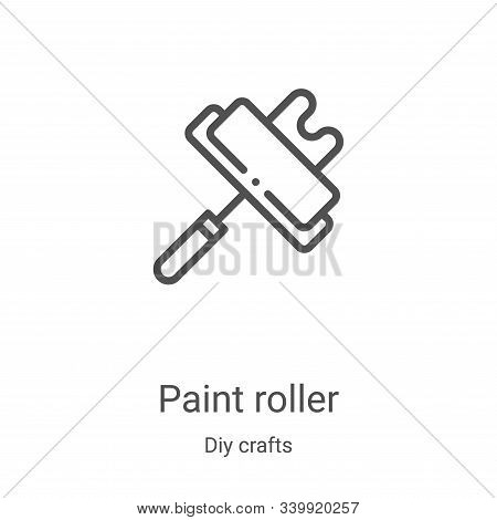 paint roller icon isolated on white background from diy crafts collection. paint roller icon trendy