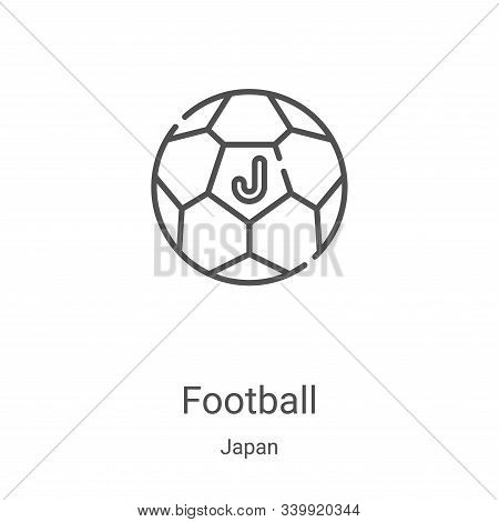 football icon isolated on white background from japan collection. football icon trendy and modern fo
