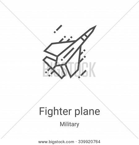 fighter plane icon isolated on white background from military collection. fighter plane icon trendy