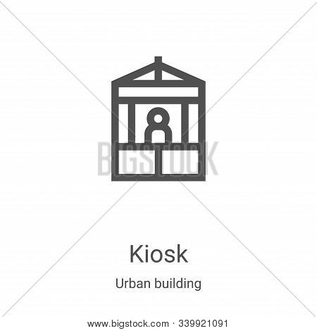 kiosk icon isolated on white background from urban building collection. kiosk icon trendy and modern