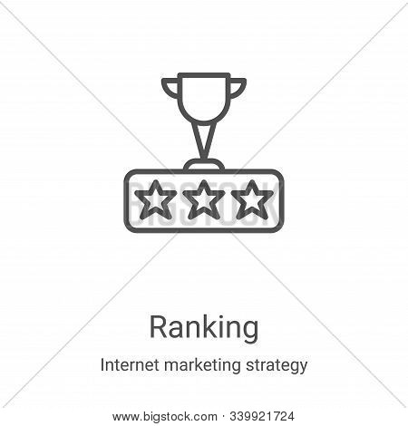 ranking icon isolated on white background from internet marketing strategy collection. ranking icon