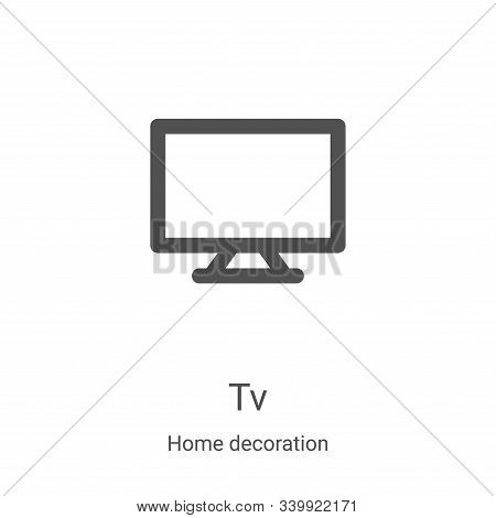 tv icon isolated on white background from home decoration collection. tv icon trendy and modern tv s