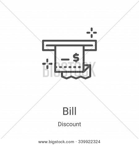 bill icon isolated on white background from discount collection. bill icon trendy and modern bill sy