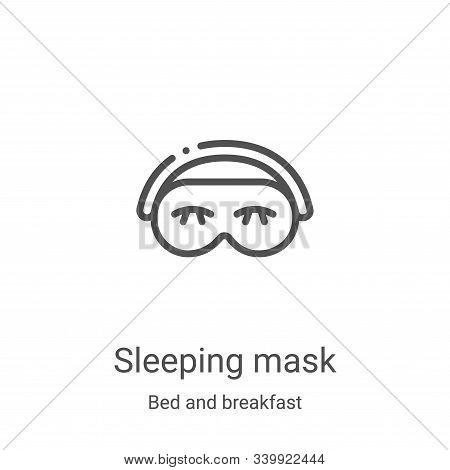 sleeping mask icon isolated on white background from bed and breakfast collection. sleeping mask ico