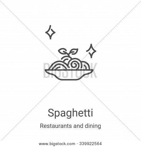 spaghetti icon isolated on white background from restaurants and dining collection. spaghetti icon t