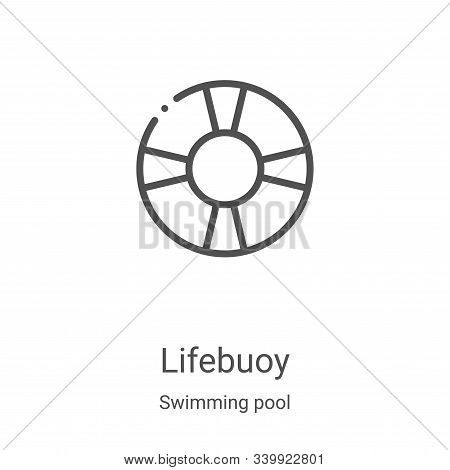 lifebuoy icon isolated on white background from swimming pool collection. lifebuoy icon trendy and m