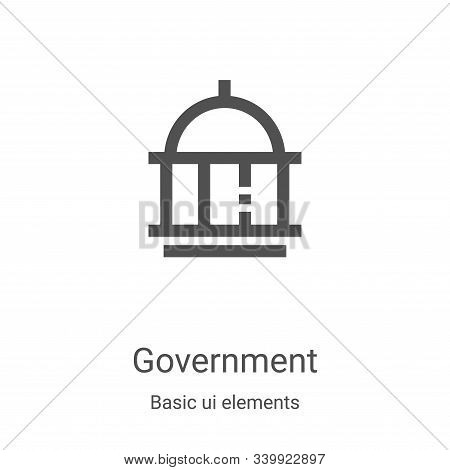 government icon isolated on white background from basic ui elements collection. government icon tren