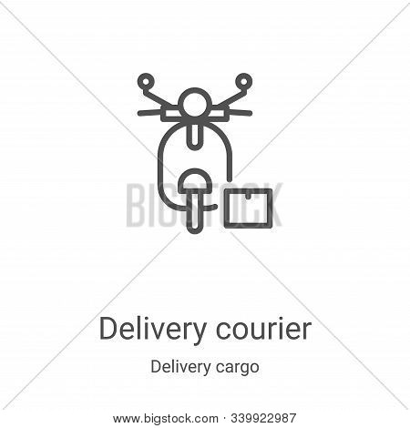 delivery courier icon isolated on white background from delivery cargo collection. delivery courier
