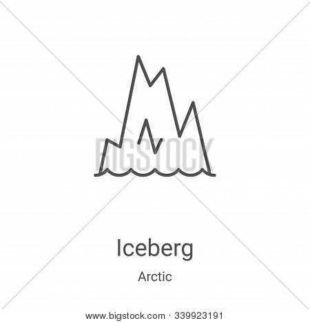 iceberg icon isolated on white background from arctic collection. iceberg icon trendy and modern ice