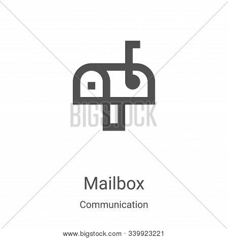 mailbox icon isolated on white background from communication collection. mailbox icon trendy and mod