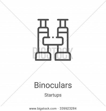 binoculars icon isolated on white background from startups collection. binoculars icon trendy and mo