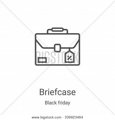 briefcase icon isolated on white background from black friday collection. briefcase icon trendy and
