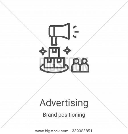 advertising icon isolated on white background from brand positioning collection. advertising icon tr
