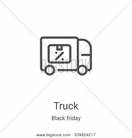 truck icon isolated on white background from black friday collection. truck icon trendy and modern t