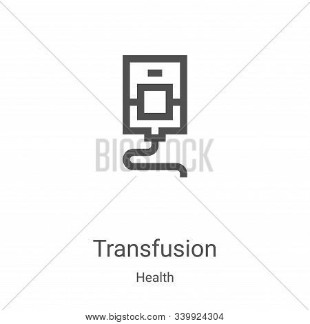 transfusion icon isolated on white background from health collection. transfusion icon trendy and mo