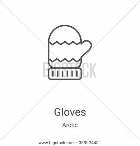 gloves icon isolated on white background from arctic collection. gloves icon trendy and modern glove