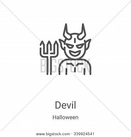devil icon isolated on white background from halloween collection. devil icon trendy and modern devi