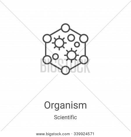 organism icon isolated on white background from scientific collection. organism icon trendy and mode