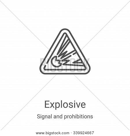 explosive icon isolated on white background from signal and prohibitions collection. explosive icon