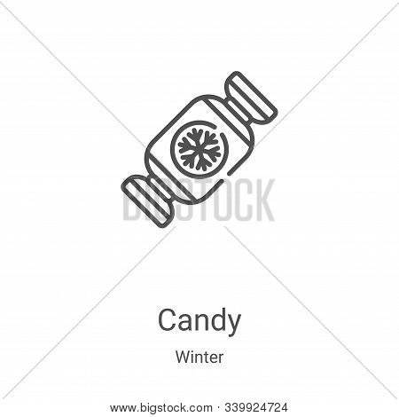 candy icon isolated on white background from winter collection. candy icon trendy and modern candy s