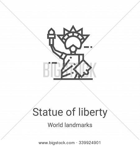 statue of liberty icon isolated on white background from world landmarks collection. statue of liber