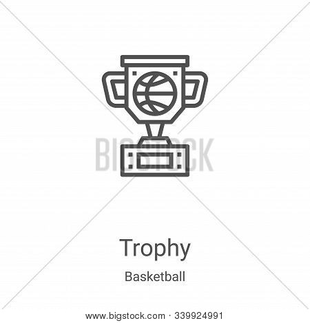 trophy icon isolated on white background from basketball collection. trophy icon trendy and modern t