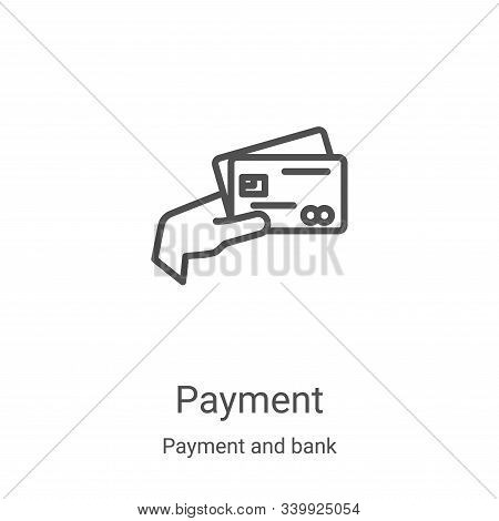 payment icon isolated on white background from payment and bank collection. payment icon trendy and