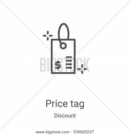 price tag icon isolated on white background from discount collection. price tag icon trendy and mode