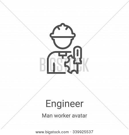 engineer icon isolated on white background from man worker avatar collection. engineer icon trendy a