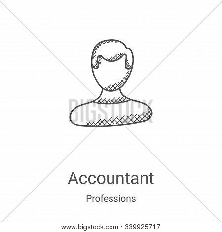 accountant icon isolated on white background from professions collection. accountant icon trendy and