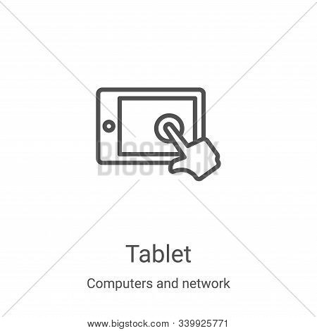 tablet icon isolated on white background from computers and network collection. tablet icon trendy a