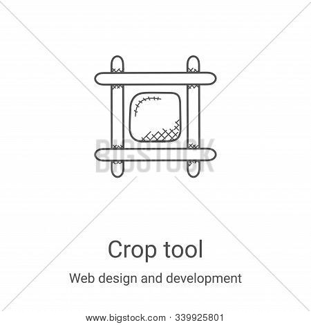 crop tool icon isolated on white background from web design and development collection. crop tool ic