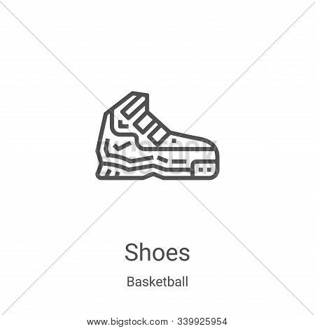 shoes icon isolated on white background from basketball collection. shoes icon trendy and modern sho
