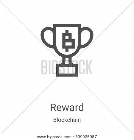 reward icon isolated on white background from blockchain collection. reward icon trendy and modern r