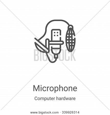 microphone icon isolated on white background from computer hardware collection. microphone icon tren