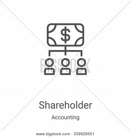 shareholder icon isolated on white background from accounting collection. shareholder icon trendy an