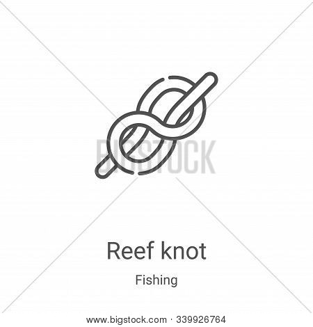 reef knot icon isolated on white background from fishing collection. reef knot icon trendy and moder