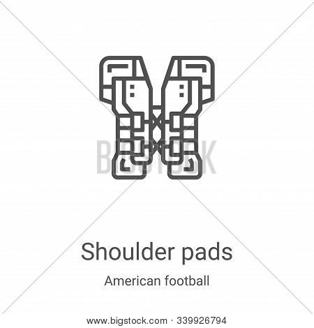 shoulder pads icon isolated on white background from american football collection. shoulder pads ico