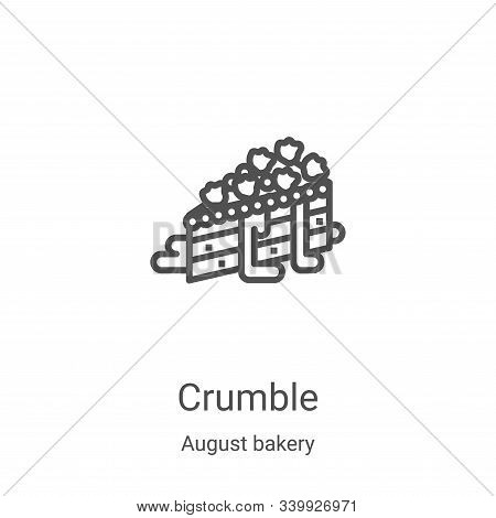 crumble icon isolated on white background from august bakery collection. crumble icon trendy and mod