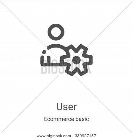 user icon isolated on white background from ecommerce basic collection. user icon trendy and modern