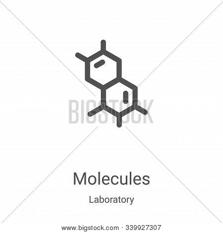 molecules icon isolated on white background from laboratory collection. molecules icon trendy and mo