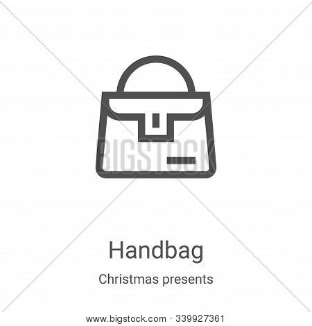 handbag icon isolated on white background from christmas presents collection. handbag icon trendy an