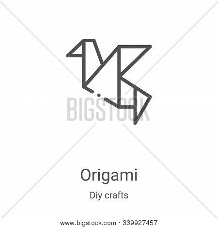 origami icon isolated on white background from diy crafts collection. origami icon trendy and modern