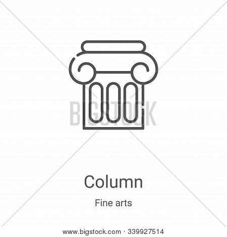 column icon isolated on white background from fine arts collection. column icon trendy and modern co