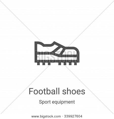 football shoes icon isolated on white background from sport equipment collection. football shoes ico