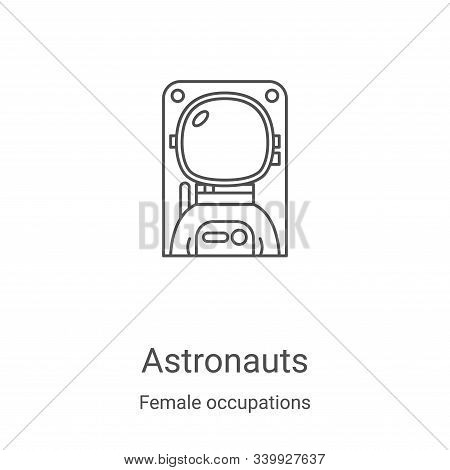 astronauts icon isolated on white background from female occupations collection. astronauts icon tre