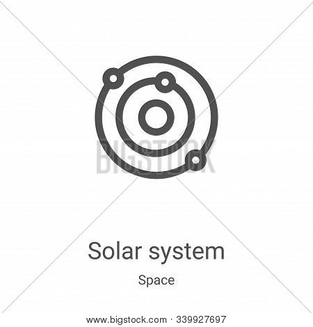 solar system icon isolated on white background from space collection. solar system icon trendy and m