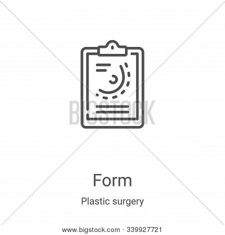 form icon isolated on white background from plastic surgery collection. form icon trendy and modern