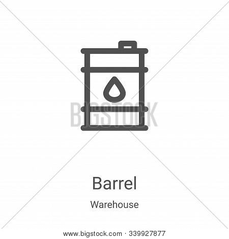 barrel icon isolated on white background from warehouse collection. barrel icon trendy and modern ba